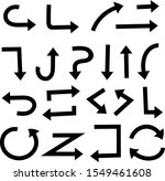 black arrows set. vector... | Shutterstock .eps vector #1549461608
