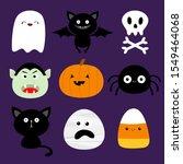 happy halloween. candy corn ...   Shutterstock . vector #1549464068