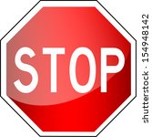 traffic sign   stop  | Shutterstock .eps vector #154948142