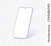 white phone mock up in...
