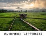 beautiful stepped rice field on ... | Shutterstock . vector #1549486868