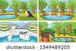 background scenes of animals in ... | Shutterstock .eps vector #1549489205