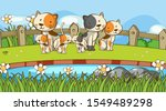 scene with many cats in the... | Shutterstock .eps vector #1549489298