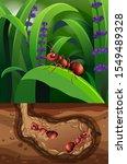 landscape design with lives... | Shutterstock .eps vector #1549489328
