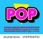 fancy pop art text effect with... | Shutterstock .eps vector #1549506932