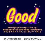 fancy script pop art style text ... | Shutterstock .eps vector #1549509422