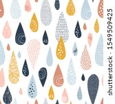 raind rops hand drawn color... | Shutterstock .eps vector #1549509425