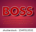 3d red alphabet with extrude... | Shutterstock .eps vector #1549513532