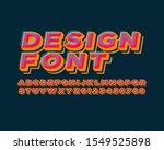 colorful 3d font set in vector... | Shutterstock .eps vector #1549525898