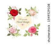the rose elegant card. square... | Shutterstock .eps vector #1549529108