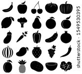 fruit and vegetable set icon ... | Shutterstock .eps vector #1549530395