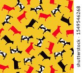 vintage seamless pattern. retro ... | Shutterstock .eps vector #1549546268