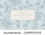 vintage card with forget me not ...   Shutterstock .eps vector #1549559105