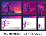 vector template design set. the ... | Shutterstock .eps vector #1549572992