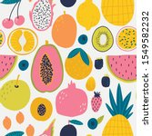 seamless pattern with fruits.... | Shutterstock .eps vector #1549582232