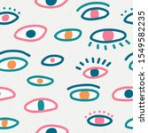 seamless pattern with hand evil ...   Shutterstock .eps vector #1549582235