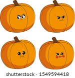cute and emotional halloween... | Shutterstock .eps vector #1549594418