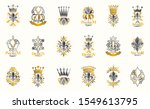 classic style de lis and crowns ... | Shutterstock .eps vector #1549613795