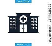hospital building icon vector...