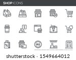 shopping and market vector line ... | Shutterstock .eps vector #1549664012