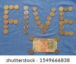Five Rupees coins. Different types of Five Rupees coins, so many legendary persons, gods and freedom fighters pictures on the five rupees coins. The lot of five Rupees coins released upto 2019 year...