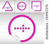 simple icon set of arrows on... | Shutterstock . vector #154967276