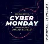 cyber monday sale template... | Shutterstock .eps vector #1549688345