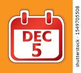 december 5 calendar day vector...