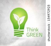 ecology think green bulb vector ... | Shutterstock .eps vector #154972925