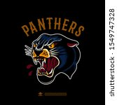 panther in the style of an old ... | Shutterstock .eps vector #1549747328