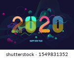 happy new year 2020 text design ... | Shutterstock .eps vector #1549831352