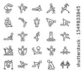 here is gym  exercise and yoga...   Shutterstock .eps vector #1549833845