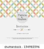 invitation or announcement card | Shutterstock .eps vector #154983596