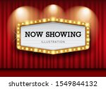 cinema theater curtains and... | Shutterstock .eps vector #1549844132