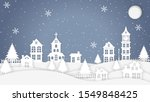 christmas night in the city.... | Shutterstock . vector #1549848425