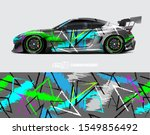 race car wrap decal designs.... | Shutterstock .eps vector #1549856492