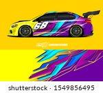 race car wrap decal designs....   Shutterstock .eps vector #1549856495