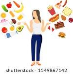 healthy food versus fast food.... | Shutterstock .eps vector #1549867142