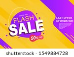 flash sale banner with discount ... | Shutterstock .eps vector #1549884728