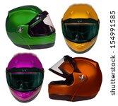 motorcycle helmet isolated on... | Shutterstock . vector #154991585