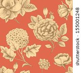 seamless pattern with vintage... | Shutterstock .eps vector #155001248