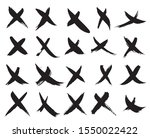x marks icons. collection of 20 ... | Shutterstock .eps vector #1550022422