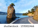 Stock photo siwash rock in stanley park in vancouver 155002466