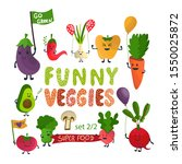 cute vegetables cartoon set... | Shutterstock .eps vector #1550025872