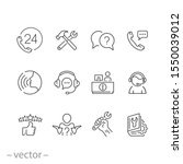 service customer help icons set ... | Shutterstock .eps vector #1550039012