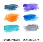 Set Of Watercolor Brush Strokes ...