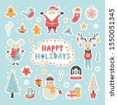 Happy Holidays Stickers Icon...