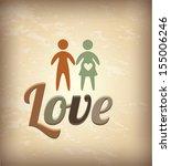 love design over vintage...   Shutterstock .eps vector #155006246