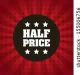 half price frame over red... | Shutterstock .eps vector #155006756