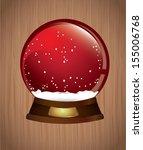 christmas ball over wooden...   Shutterstock .eps vector #155006768
